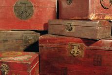 Cajas de madera china - baúles chinos - lámparas de china
