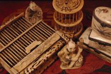 Objetos chinos de hueso - marfil chino y decoración asiática
